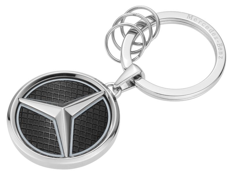 Mercedes-Benz AMG GT llavero en carbon-Look negro-plata-amarillo-nuevo